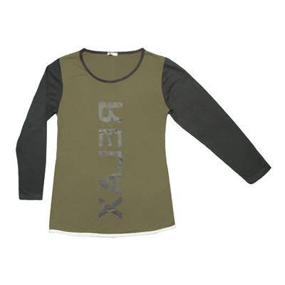 Photo of تی شرت آستین بلند زنانه طرح RELAX رنگ زیتونی