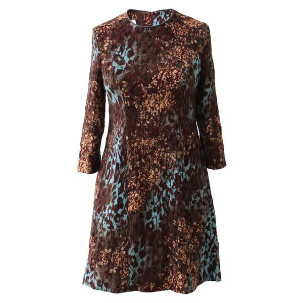 پیراهن زنانه دِرِس ایگو کد 1010002 رنگ قهوه ای