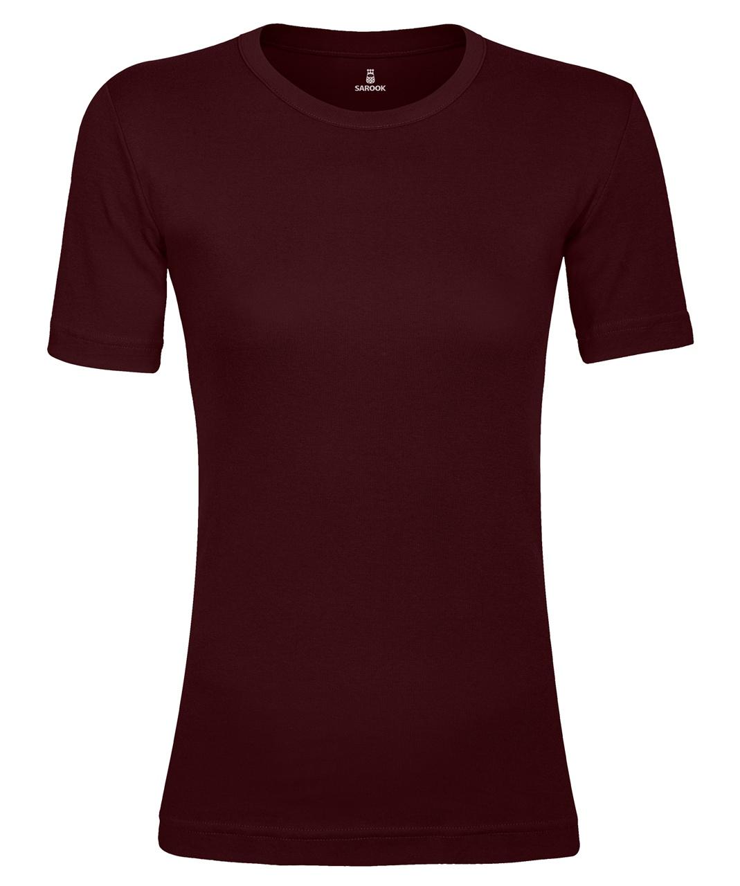تصویر تی شرت زنانه ساروک مدل TZYUF08 رنگ زرشکی