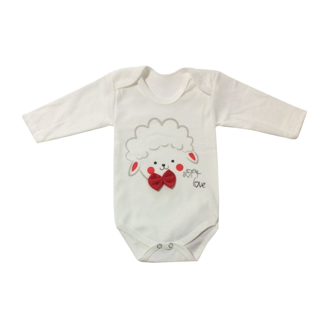 ست 3 تکه لباس نوزادی طرح بره مدل PK-H252 main 1 1