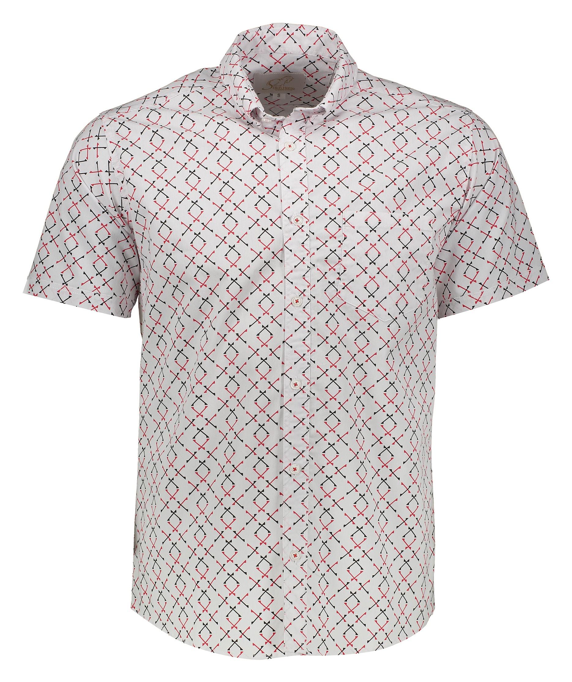 پیراهن آستین کوتاه مردانه ریچ هورس مدل pl003