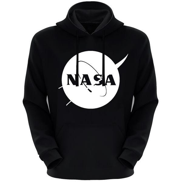 هودی مردانه طرح ناسا کد S70 رنگ مشکی