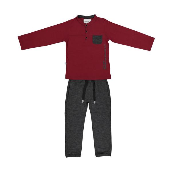 ست تی شرت و شلوار پسرانه نامدارز مدل 2021103-70