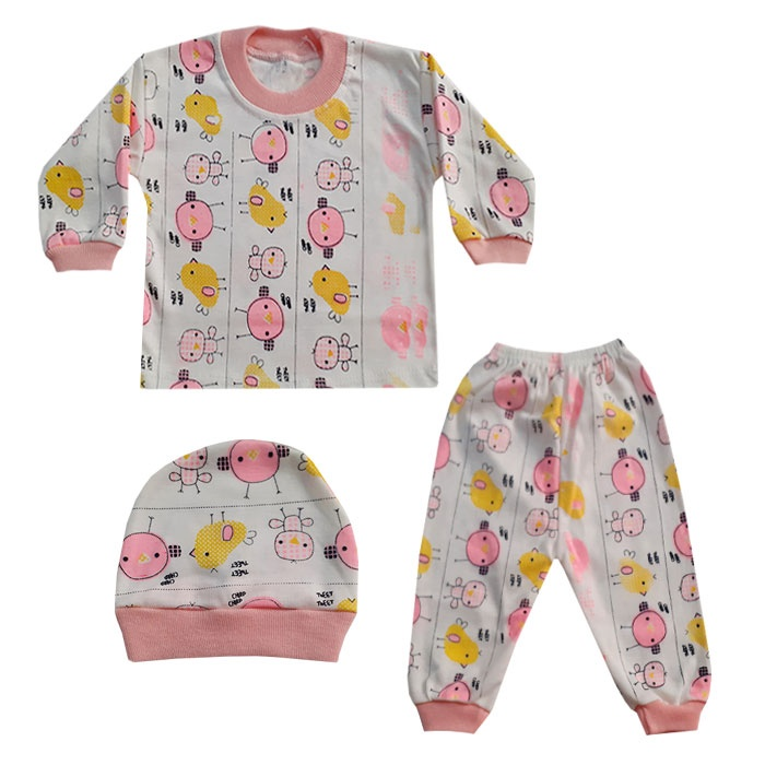 ست 3 تکه لباس نوزادی کد A-01