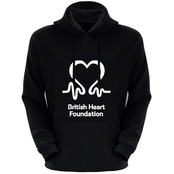 هودی زنانه طرح قلب کد F85 رنگ مشکی