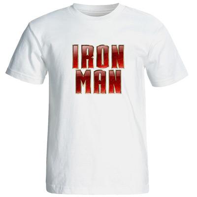 تصویر تیشرت آستین کوتاه مردانه طرح iron man کد 9377