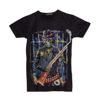 تی شرت پسرانه طرح اسکلت کابوی کد 10