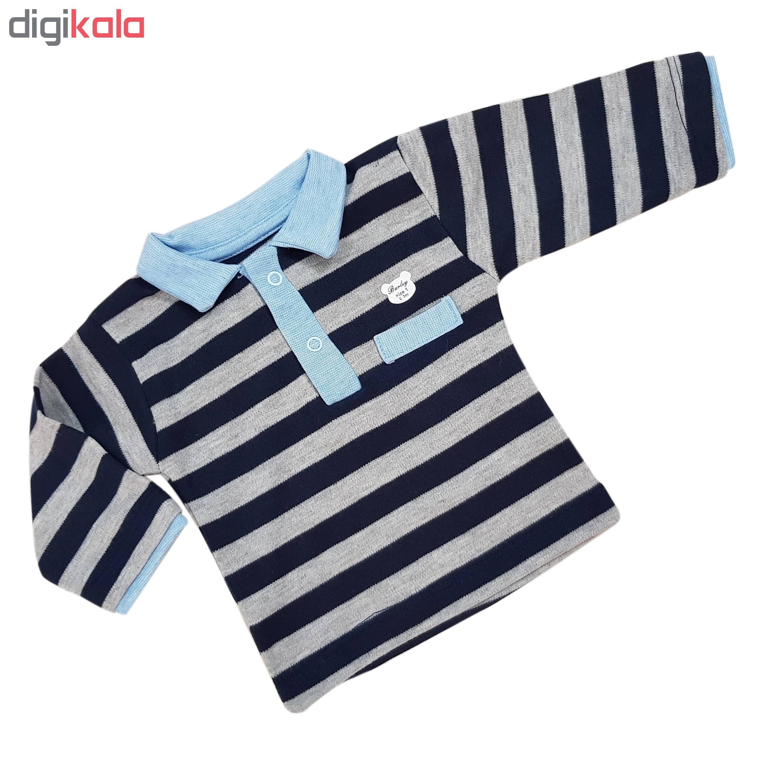 ست تی شرت و شلوار نوزادی پسرانه مدل کاردینو