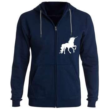 سویشرت زنانه طرح اسب تک شاخ کد F1 رنگ سرمه ای