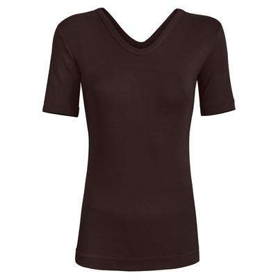 تی شرت زنانه ساروک مدل TZYVFPB05 رنگ قهوه ای