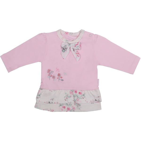 تی شرت آستین بلند نوزادی نیلی مدل لیانا کد 08015