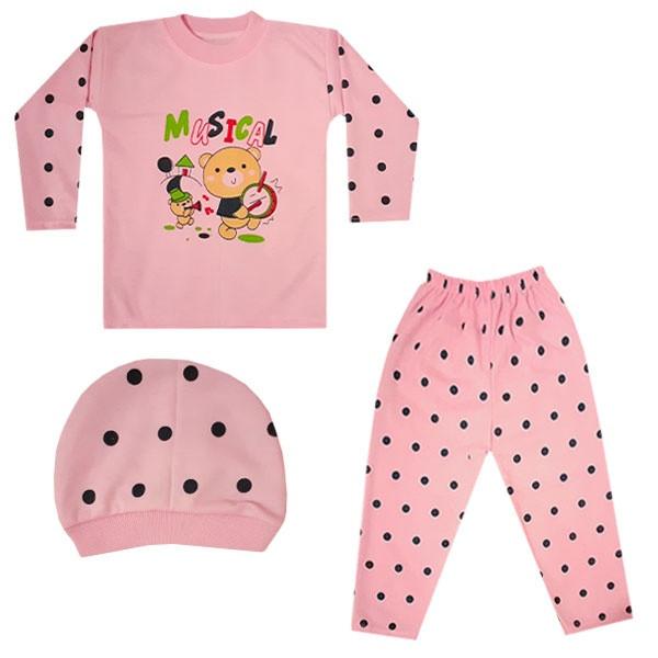 ست 3 تکه لباس نوزادی کد W-04
