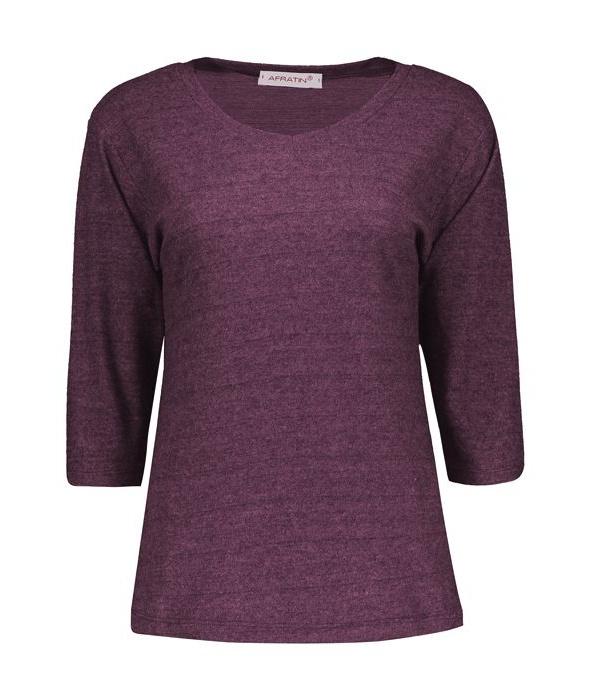 تی شرت زنانه افراتین کد 7510 رنگ زرشکی