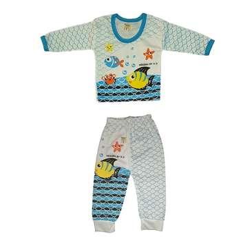 ست تی شرت و شلوار نوزاد کد 777MA