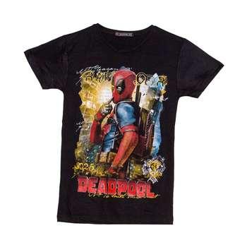 تی شرت پسرانه طرح ددپول کد 15