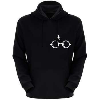 هودی مردانه طرح عینک کد F24 رنگ مشکی
