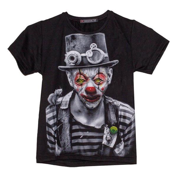 تی شرت پسرانه طرح دلقک کد 04
