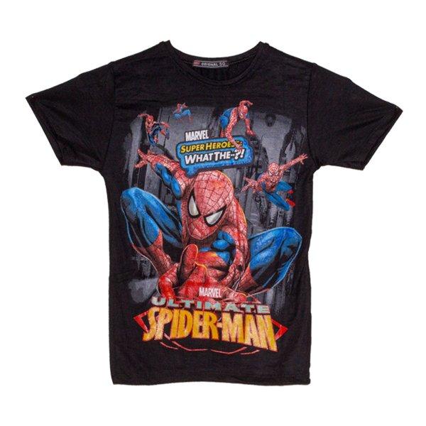 تی شرت پسرانه طرح اسپایدرمن کد 08