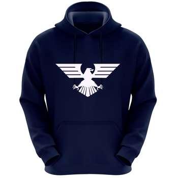هودی مردانه طرح عقاب کد k33 رنگ سرمه ای