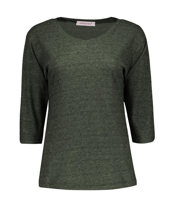 تی شرت زنانه افراتین کد 7510 رنگ یشمی