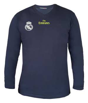 تیشرت آستین بلند مردانه طرح رئال مادرید کد 9716