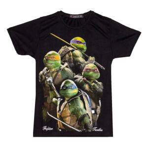 تی شرت پسرانه طرح لاک پشت های نینجا کد 11