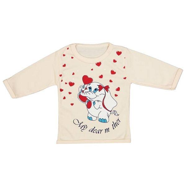 ست ۵ تکه لباس نوزادی دخترانه طرح قلب و فیل کد M16