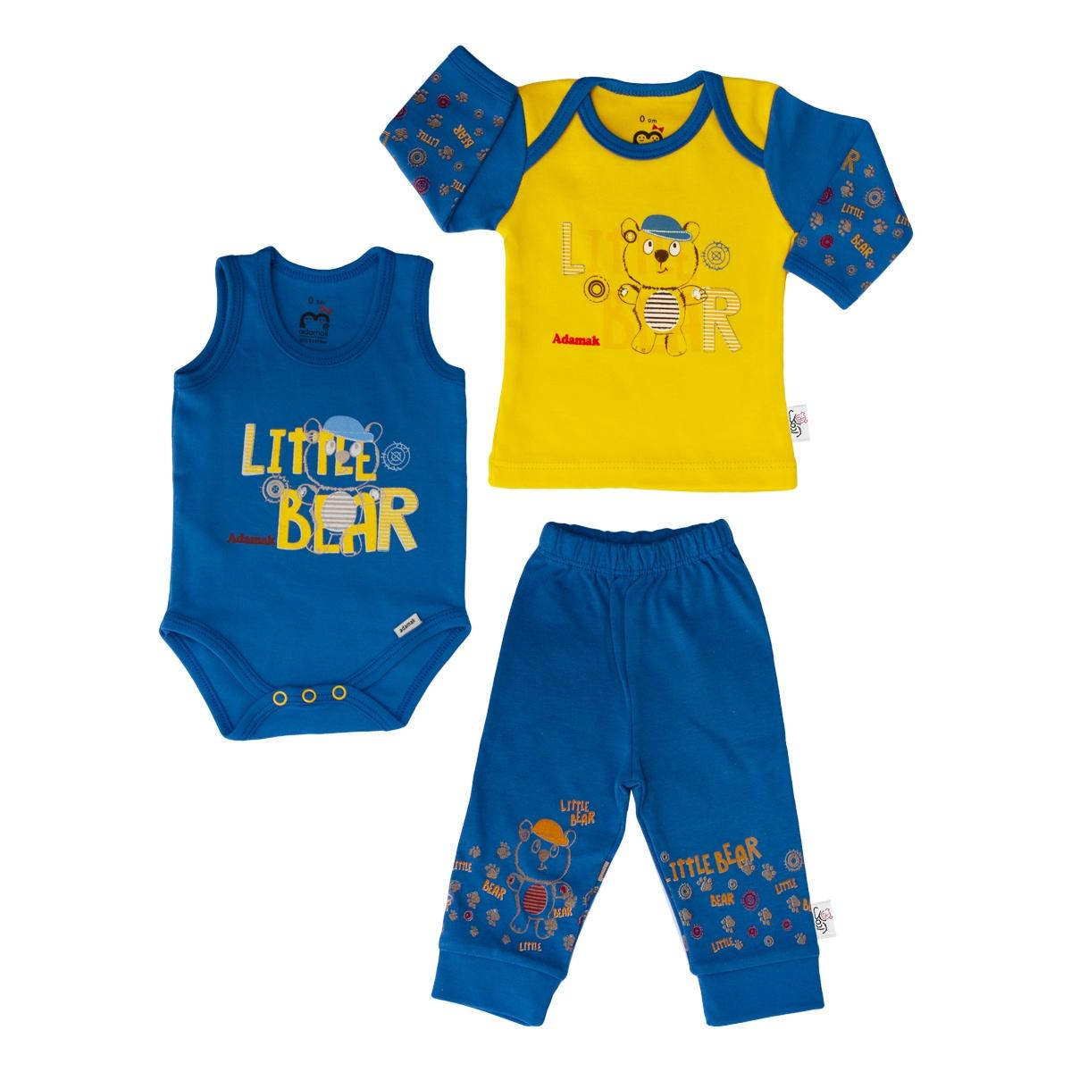 ست سه تکه لباس نوزادی آدمک طرح Little Bear
