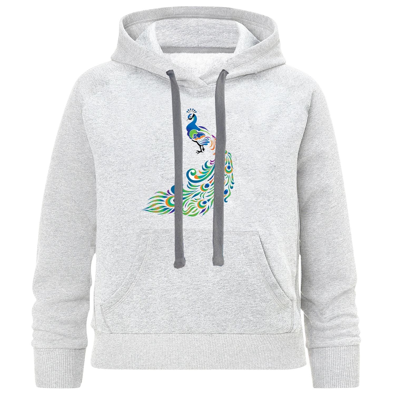 هودی دخترانه طرح طاووس کد k08