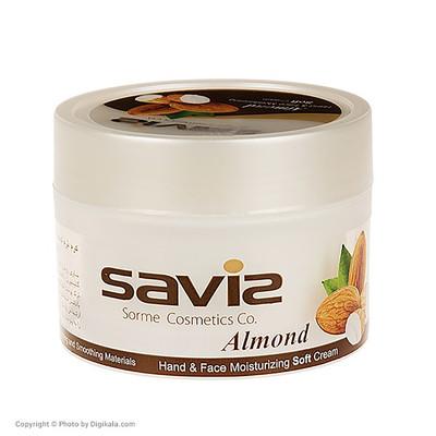 کرم مرطوب کننده ساویز مدل Almond مقدار 180 گرم