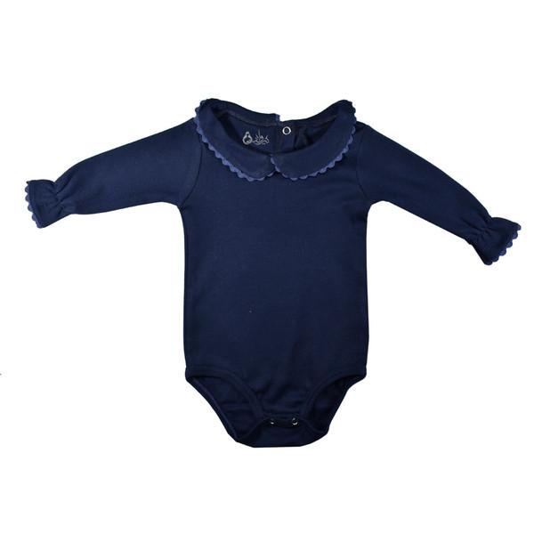 بادی آستین بلند نوزادی دخترانه نیروان کد 32 - 4