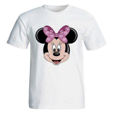 تی شرت آستین کوتاه زنانه طرح میکی موس کد 35018