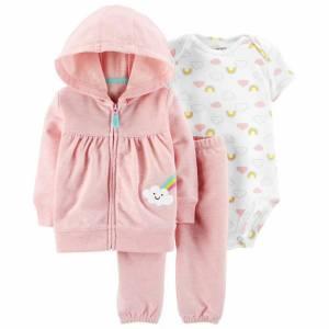 ست 3 تکه لباس نوزادی دخترانه کارترز مدل 6094