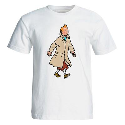 تصویر تی شرت آستین کوتاه مردانه طرح تن تن کد 35030