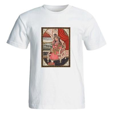 تی شرت آستین کوتاه زنانه طرح زن ایرانی کد 26054