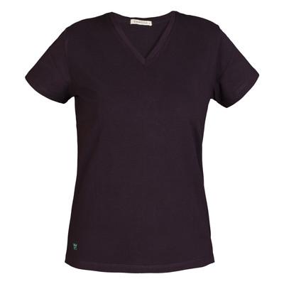 تي شرت زنانه سیاوود مدل V-BASIC کد 6100400-V0002 رنگ بادمجاني