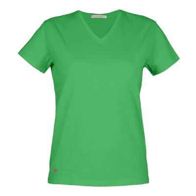 تی شرت زنانه سیاوود مدل V-BASIC کد 6100400-G0207 رنگ سبز