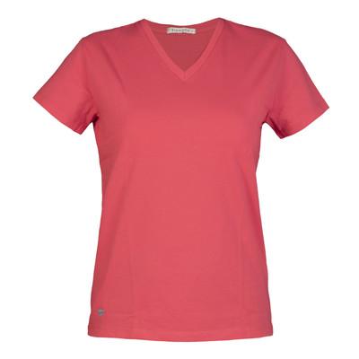 تصویر تی شرت زنانه سیاوود مدل V-BASIC کد 6100400-P0118 رنگ گلبهی