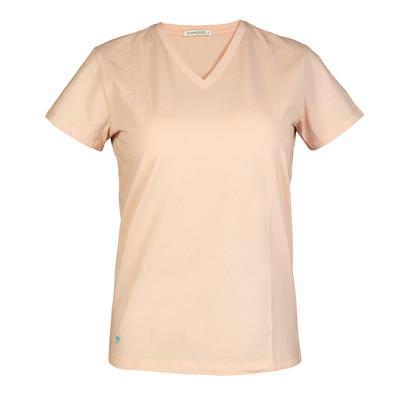 تصویر تی شرت زنانه سیاوود مدل V-BASIC کد 6100400-P0117 رنگ صورتی روشن