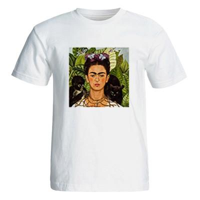 تی شرت آستین کوتاه زنانه طرح فریدا کد 26046