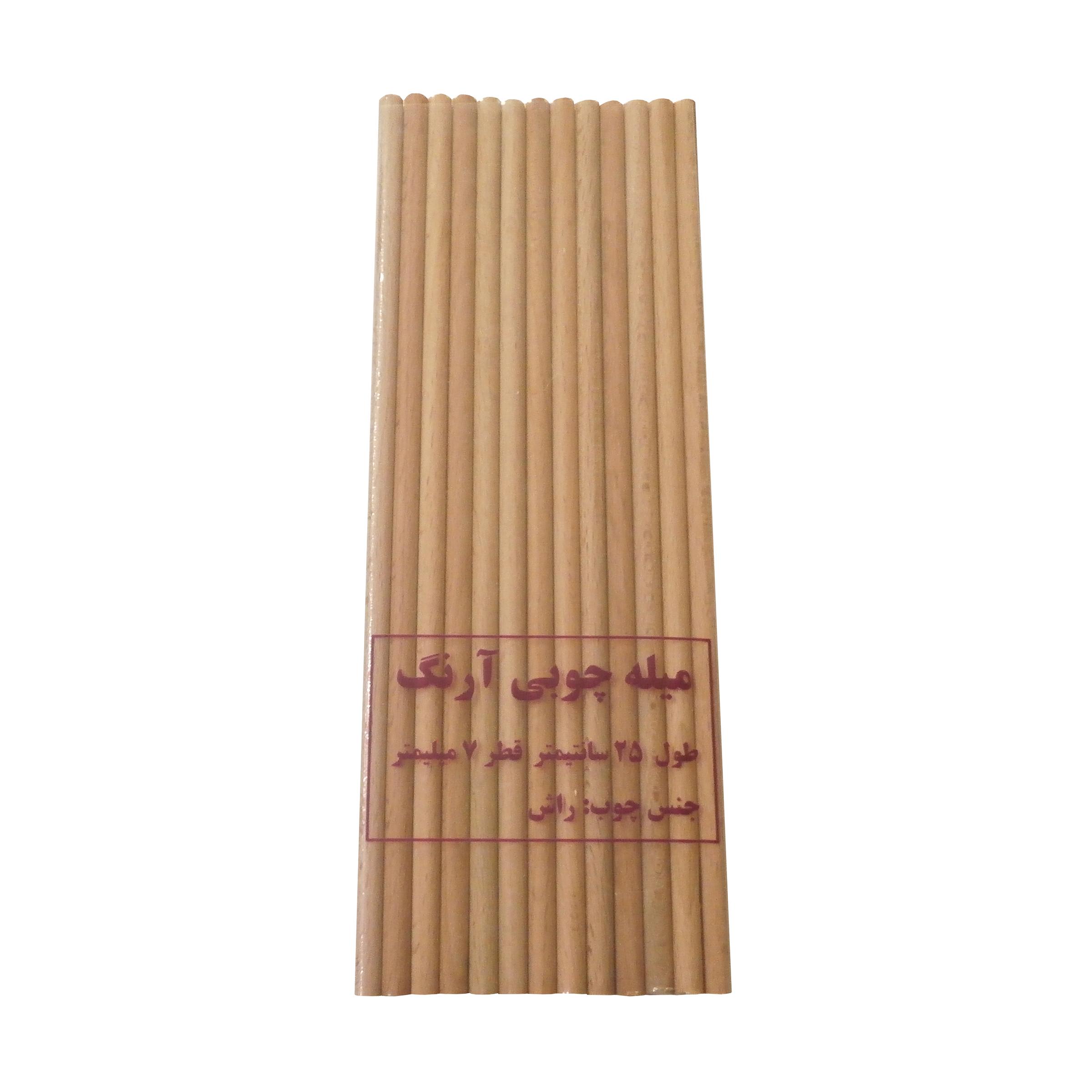میله چوبی آرنگ مدل MIL_R_2507_20 بسته 20 عددی