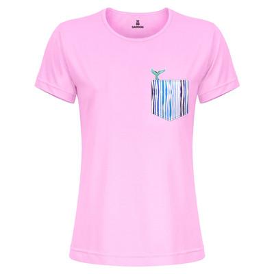 تی شرت زنانه ساروک مدل TZYUYRCH-Whale 03 رنگ صورتی