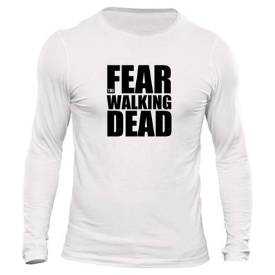 تیشرت آستین بلند مردانه طرح walking dead کد 1084
