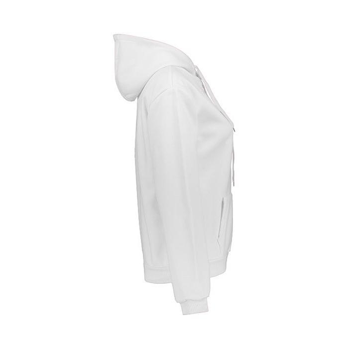 هودی زنانه افراتین طرح پلنگ صورتی کد 8113 رنگ سفید