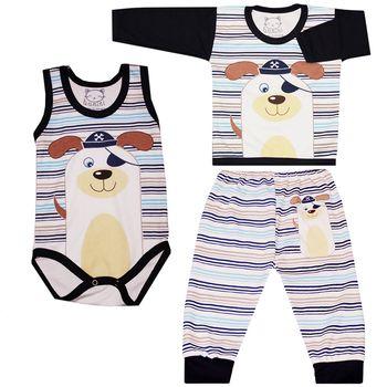ست سه تکه لباس نوزاد کد SHTBB001