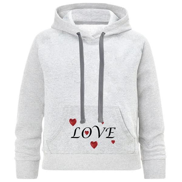 هودی دخترانه طرح LOVE کد K79