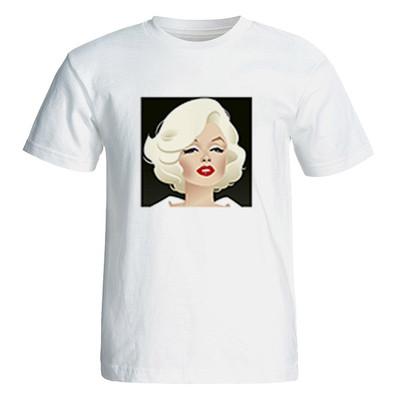 تصویر تی شرت آستین کوتاه زنانه طرح مرلین مونرو کد 26048