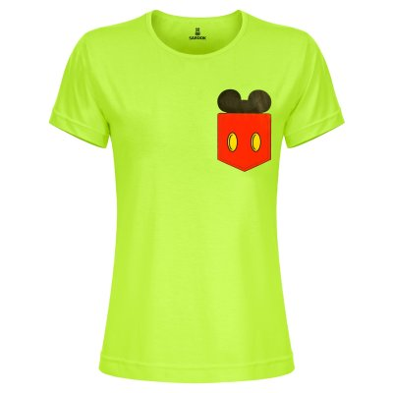 تی شرت زنانه ساروک مدل TZYUYRCH-Mickey 01 رنگ فسفری
