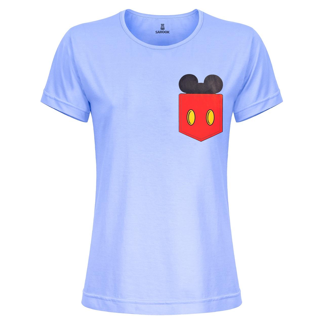 تصویر تی شرت زنانه ساروک مدل TZYUYRCH-Mickey 05 رنگ آبی