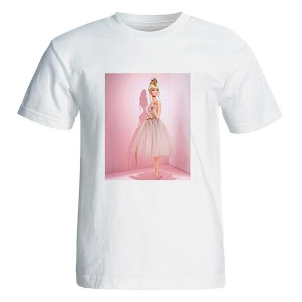تی شرت آستین کوتاه زنانه طرح باربی کد 26064